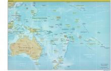 Oceania Map - Physical - Map Collection