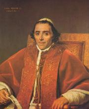 Portrait of Pope Pius VII - Jacques-Louis David