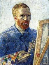 Self Portrait as a Painter (also known as Self Portrait in Front of the Easel) - Vincent Van Gogh