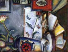 Still LIfe with Pipe and Letters