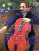 The Cellist (also known as Portrait of Fritz Scheklud) - Paul Gauguin
