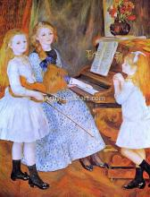 The Daughters of Catulle Mendes - Pierre Auguste Renoir