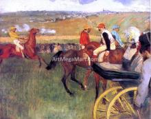 The Racecourse, Amateur Jockeys - Edgar Degas