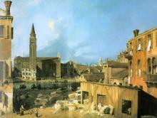 The Stonemason's Yard -  Canaletto