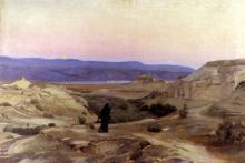Totes Meer Mit Moabitergebirge, Abendstimmung - Gustav Bauernfeind