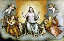 Triumph of Christ with Angels and Cherubs
